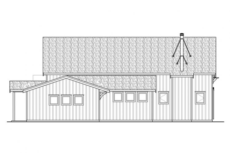 Country House Plan - Fairheart 43077 - Left Exterior