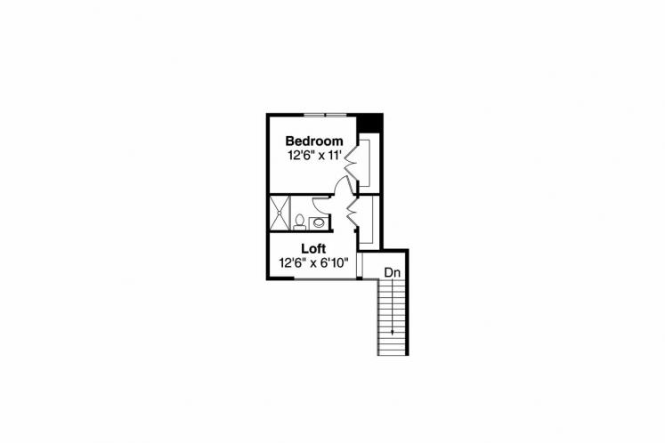 Country House Plan - Fairheart 43077 - 2nd Floor Plan