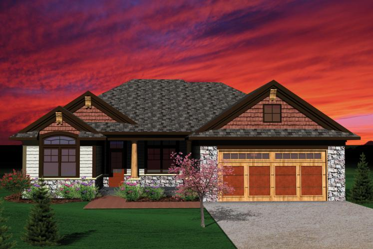 Traditional House Plan -  43122 - Front Exterior