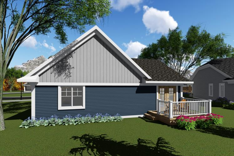Ranch House Plan -  43240 - Rear Exterior