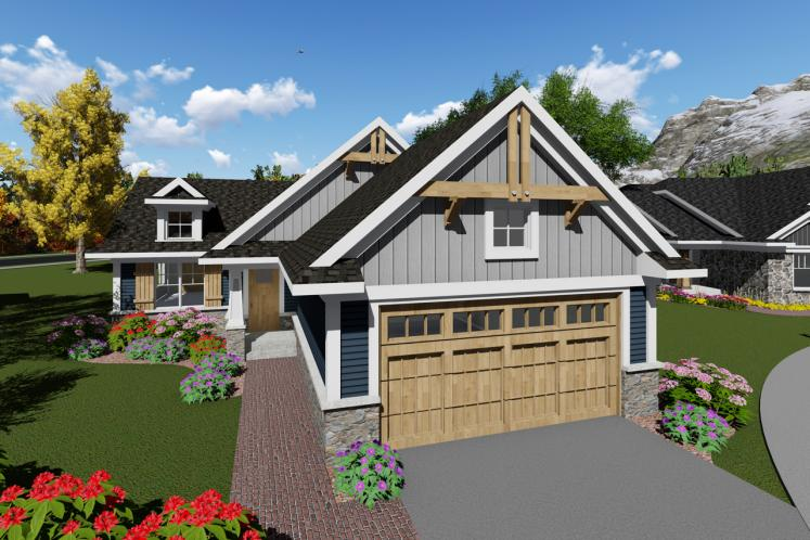 Craftsman House Plan -  43240 - Front Exterior