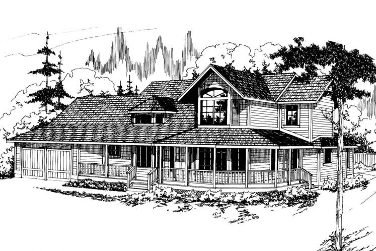 Traditional House Plan - Auburn 43241 - Front Exterior