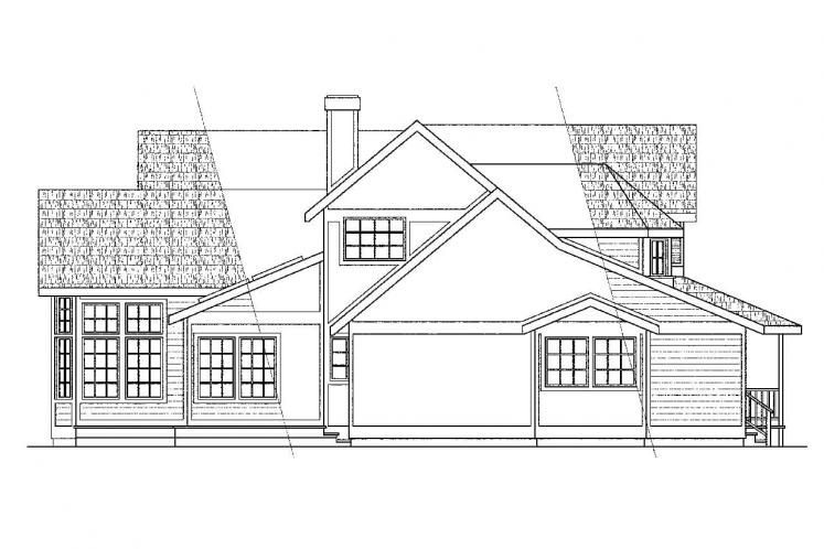 Country House Plan - Auburn 43241 - Left Exterior