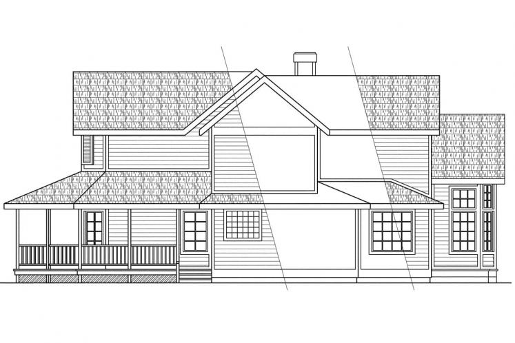 Traditional House Plan - Auburn 43241 - Right Exterior
