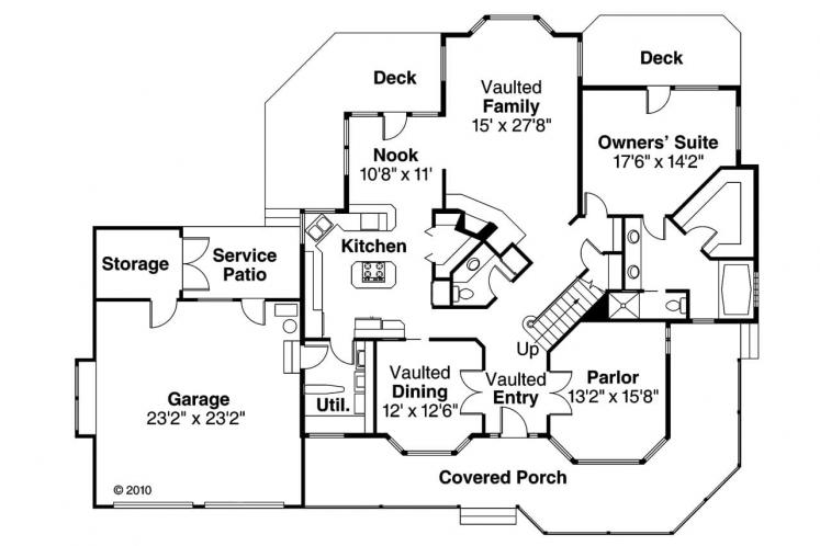 Victorian House Plan - Auburn 43241 - 1st Floor Plan