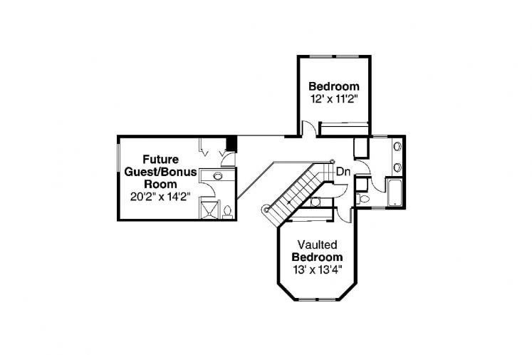 Country House Plan - Auburn 43241 - 2nd Floor Plan