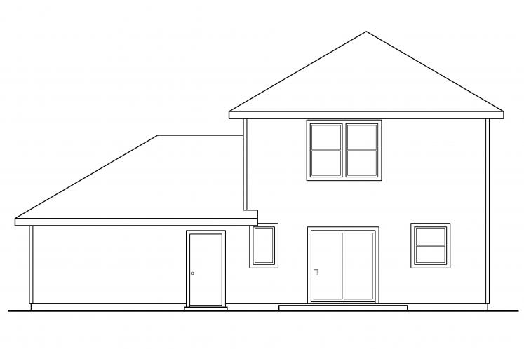 Traditional House Plan - Patterson 43297 - Rear Exterior