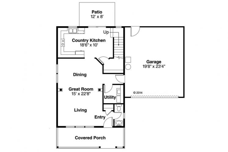 Country House Plan - Patterson 43297 - 1st Floor Plan