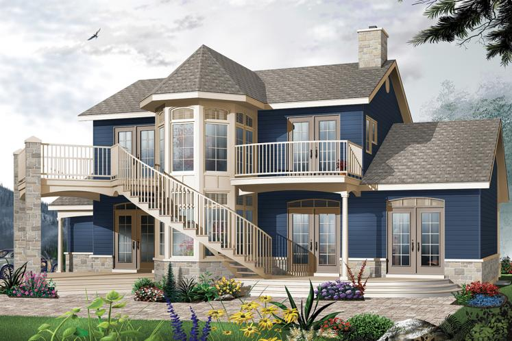 Country House Plan - The Wind Song 2 43344 - Rear Exterior