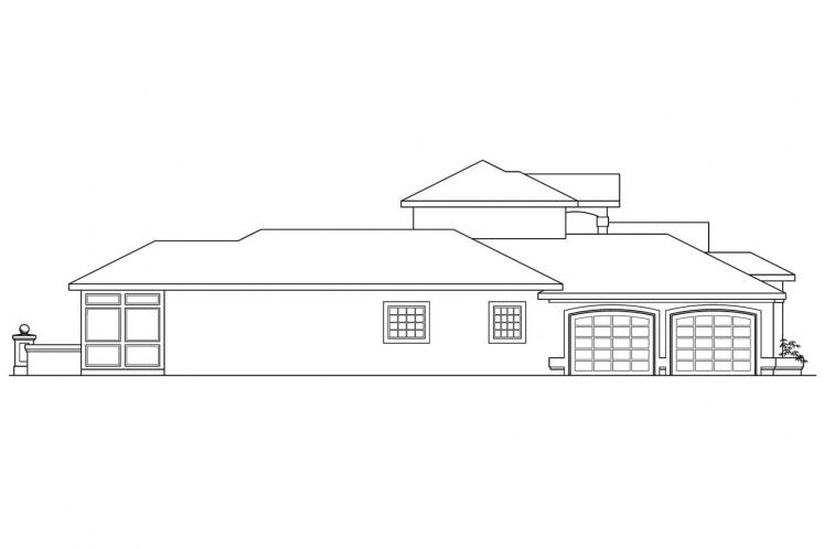 Spanish House Plan - Roswell 43424 - Left Exterior