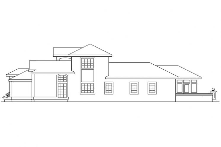 Southwest House Plan - Roswell 43424 - Right Exterior