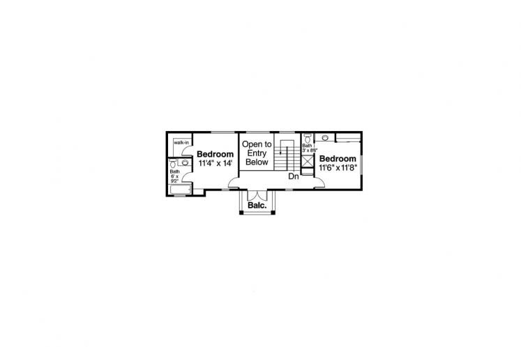Spanish House Plan - Roswell 43424 - 2nd Floor Plan