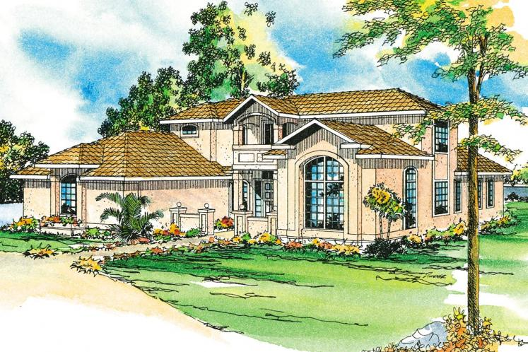 Southwest House Plan - Roswell 43424 - Front Exterior