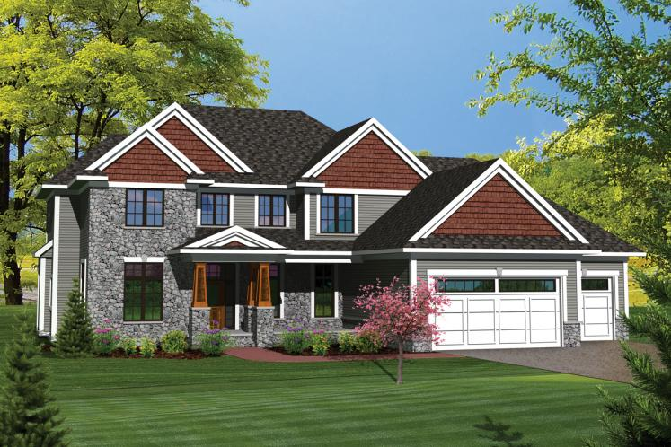 Traditional House Plan -  43427 - Front Exterior