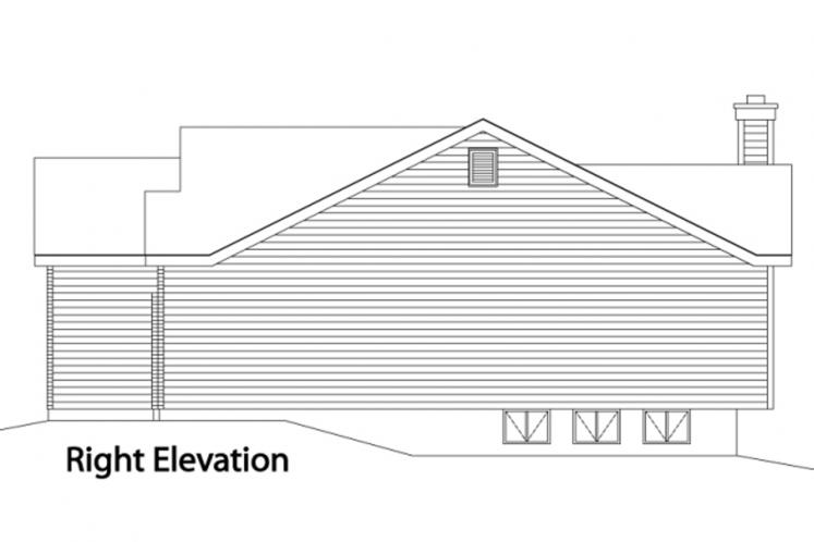 Traditional House Plan -  43736 - Right Exterior