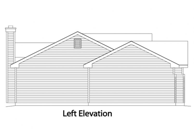 Ranch House Plan -  43736 - Left Exterior