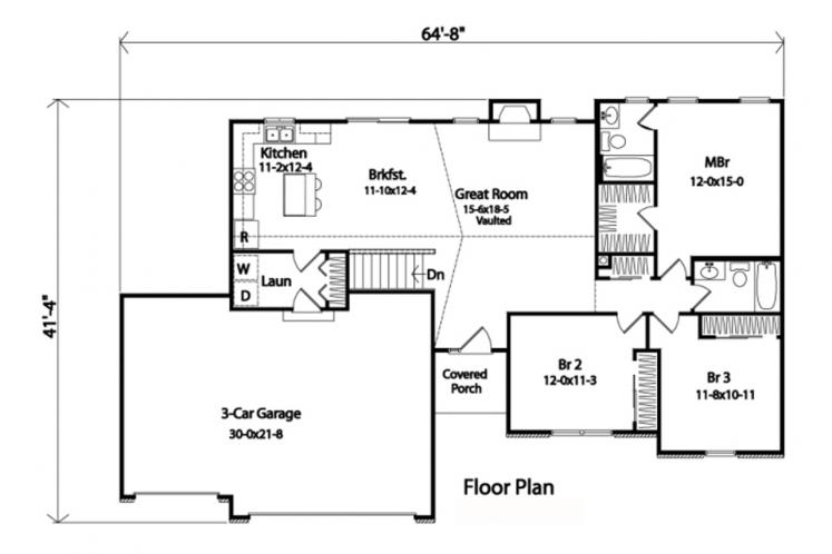 43736 | The House Plan Company on ranch house plans breezeway garage add, ranch house plans with garage, ranch side-entry, ranch house with three car garage, ranch style house additions entry, ranch style home with garage addition,