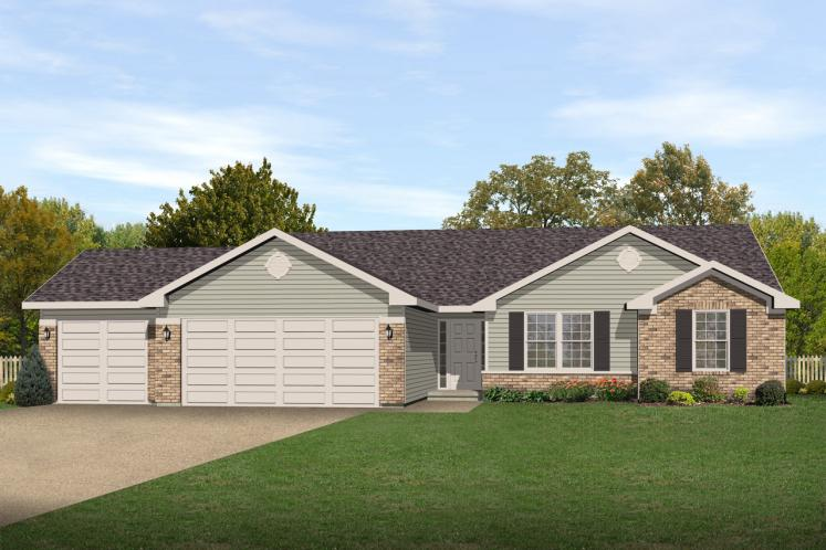 Ranch House Plan -  43736 - Front Exterior