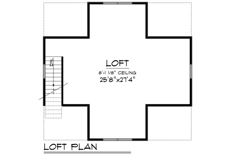 Country Garage Plan -  43770 - 2nd Floor Plan
