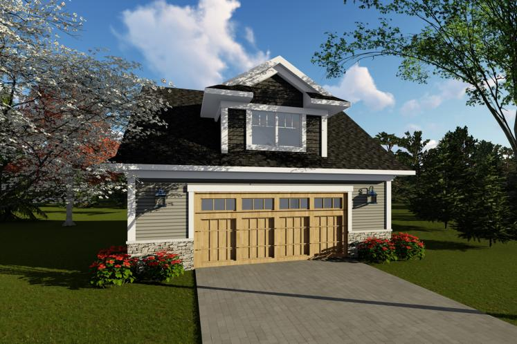 Traditional Garage Plan -  43770 - Front Exterior