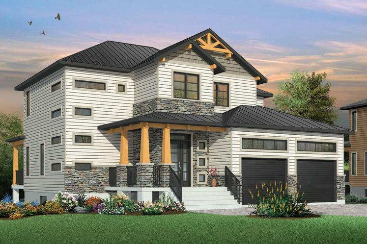 Craftsman House Plan - Lexington 43841 - Front Exterior