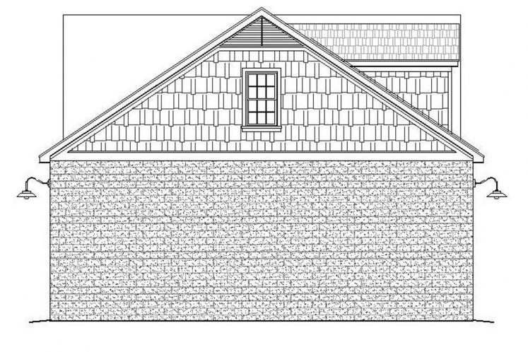 Traditional Garage Plan -  43904 - Left Exterior