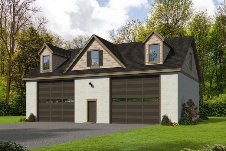 Traditional Garage Plan -  43904 - Front Exterior