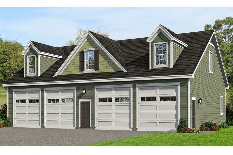 Country Garage Plan -  43957 - Front Exterior