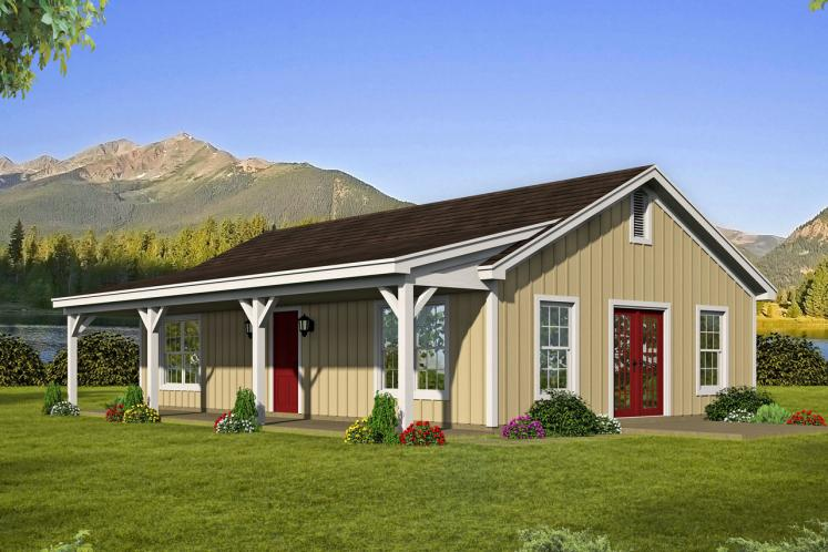Ranch House Plan -  43970 - Front Exterior