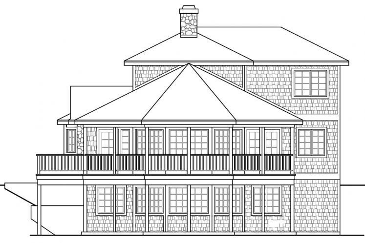 Cottage House Plan - New Haven 44034 - Right Exterior