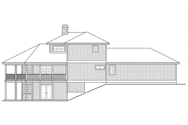 Cottage House Plan - New Haven 44034 - Rear Exterior