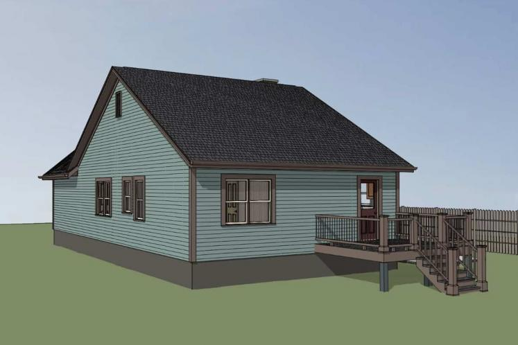 Country House Plan -  44142 - Right Exterior