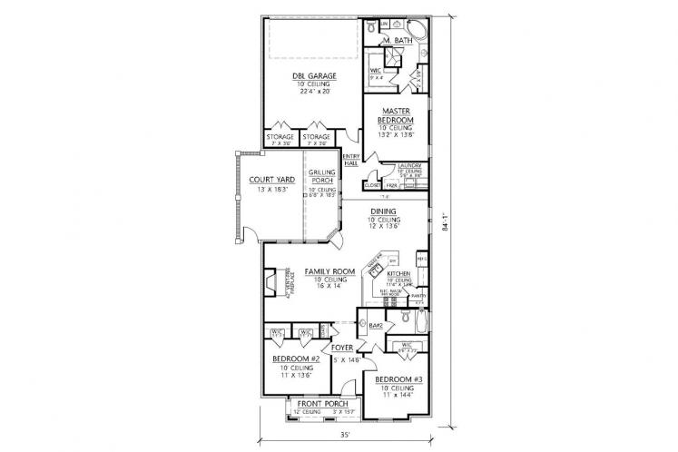 Classic House Plan - Chelsea II 44177 - 1st Floor Plan
