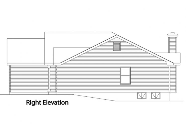 Ranch House Plan -  44234 - Right Exterior