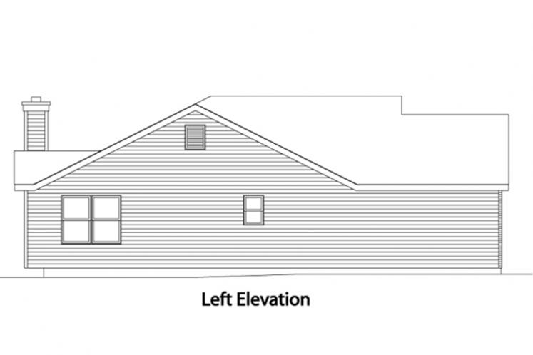 Traditional House Plan -  44234 - Left Exterior