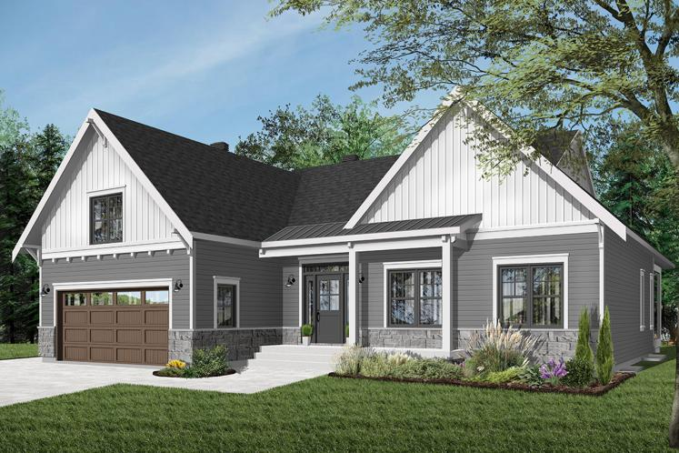 Country House Plan - Jennifer 44251 - Front Exterior