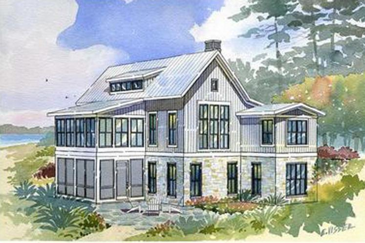 Traditional House Plan - Bayview 44361 - Exterior