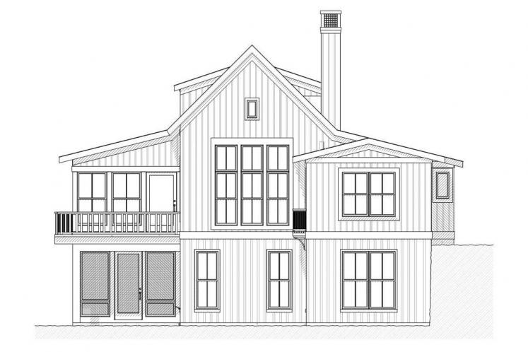 Traditional House Plan - Bayview 44361 - Rear Exterior