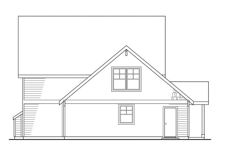 Bungalow House Plan - Ambridge 44403 - Rear Exterior