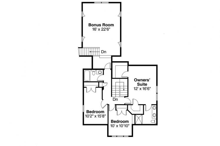 Country House Plan - Ambridge 44403 - 2nd Floor Plan