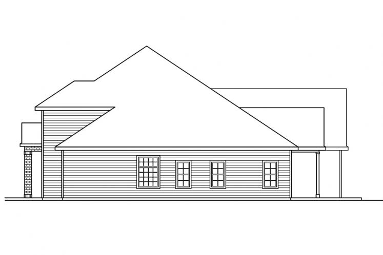 Traditional House Plan - Fairbanks 44415 - Right Exterior