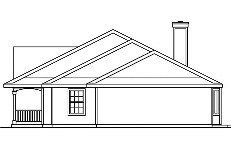 Colonial House Plan - Redmond 44538 - Right Exterior