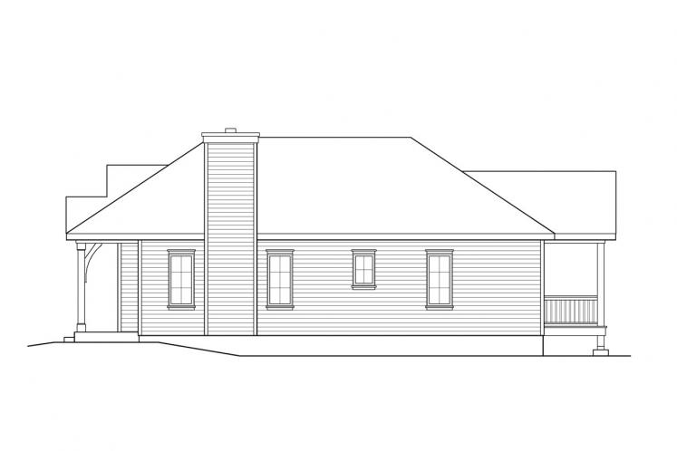 Cape Cod House Plan -  44543 - Right Exterior