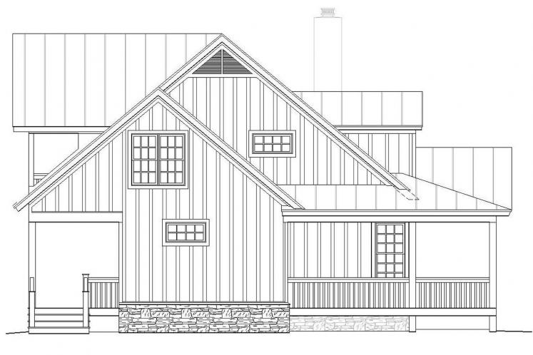 Country House Plan -  44572 - Left Exterior