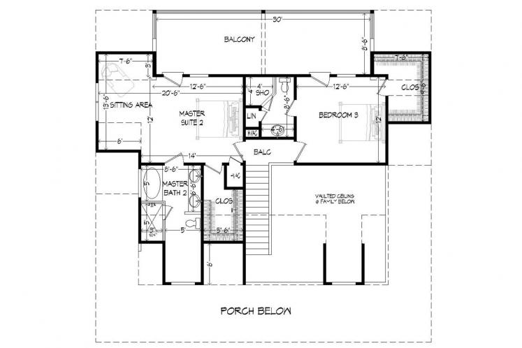 Cottage House Plan -  44572 - 2nd Floor Plan