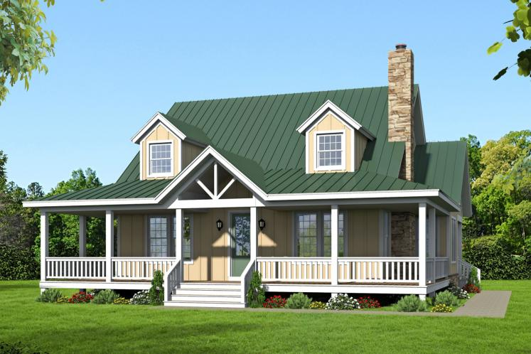 Craftsman House Plan -  44572 - Front Exterior