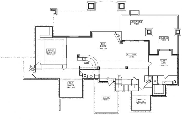 Prairie House Plan - Yukon 44590 - Basement Floor Plan