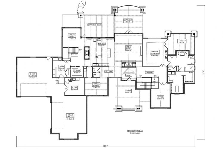 Prairie House Plan - Yukon 44590 - 1st Floor Plan