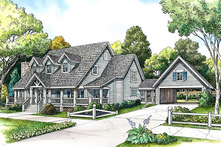 Country House Plan - Kerville 44710 - Front Exterior