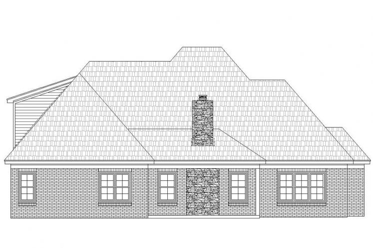 Classic House Plan - Whitetail 44842 - Rear Exterior